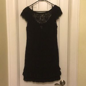 Women's black lace dress - lower rounded back. 12